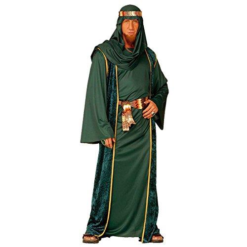 Scheich Kostüm Araber Scheichkostüm grün L (52) Orient Araberkostüm Herren Orientkostüm Sultan Faschingskostüm Kalif Ölscheich Karnevalskostüm 1001 Nacht Mottoparty Verkleidung Karneval Kostüm