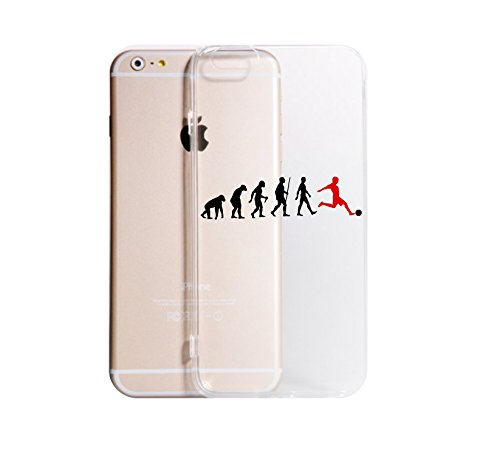 Social Crazy Cover iPhone XS - XR - XS Max-6-6 Plus - 6S - 6S Plus - 7-7 Plus - 8-8 Plus - X - Calcio Evolution Trasparente UltraSottili AntiGraffio Antiurto Custodia