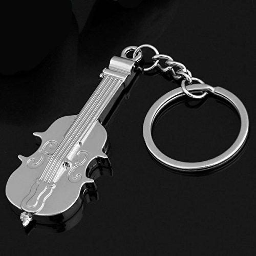 Violin Metal Keychain Keyring - Key Chain Charm
