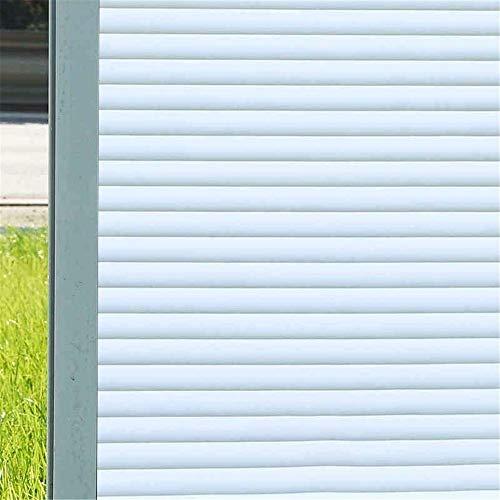 LMKJ Película de Vinilo para Ventanas de privacidad, película de Vidrio electrostática sin Pegamento, película Decorativa de Aislamiento térmico Opaco con patrón de Tiras A32 40x200cm