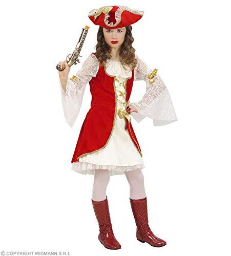 WIDMANN WDM58798 - Costume Per Bambini Capitano Pirata (158 cm/11-13 Anni), Bianco, S
