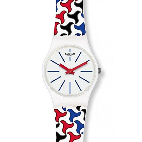 Swatch Reloj Analogico para Mujer de Cuarzo con Correa en Silicona LW156