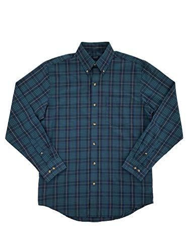 KUULEE Men's Long Sleeve Button Down Check Pattern Slim Fit Business Dress Shirt Navy S