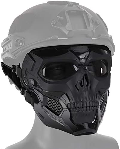 No branded Airsoft Tactical Skull Skeleton Mask Army Full Face Eye Protection Mask for Paintball product image