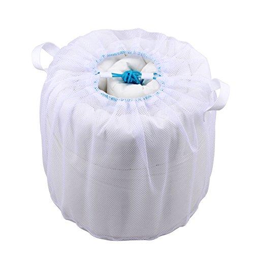 『ダイヤコーポレーション 布団も洗える 寝具用洗濯ネット 直径約45x40cm』の2枚目の画像