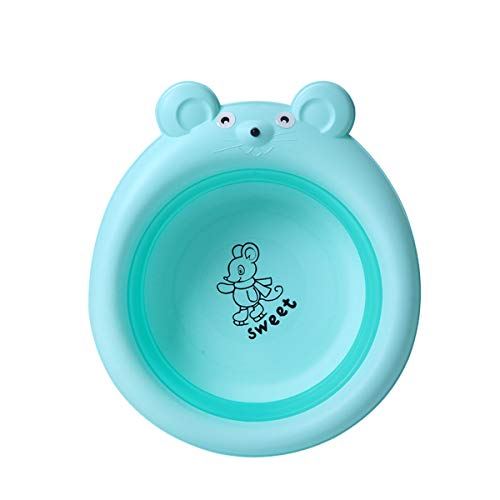 Family Needs Originative telescopische Infant Extra Basin opklapbaar Wastafel Buiten Portable wastafel PP + TPE Real Cartoon BabyMouse wastafel (Color : Green)