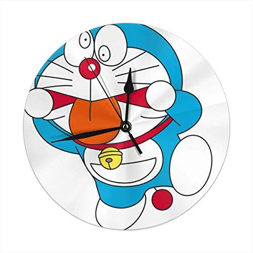 ALLdelete# Wall Clock Doraemon Freak Orologio da Parete Numeri Arabi Design Rotondo Orologio da Parete per Soggiorno Bagno Decorativo per la casa