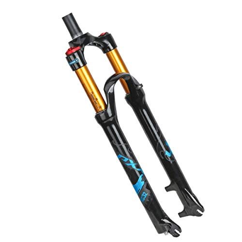 Carbone Air Fork- Suspension vélo VTT VTT Smart Lock Verrouillage Out amortir Ajuster, Fourche de Suspension de vélo en Alliage fourches de vélo (27,5 Pouces / 29 Pouces