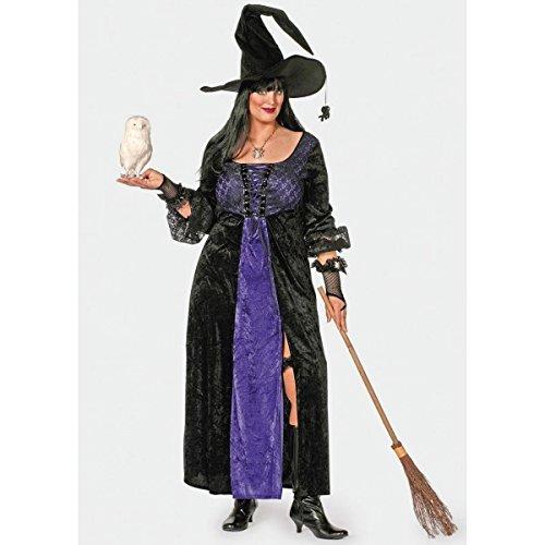 Vestido de bruja gtica negro y morado, talla 56