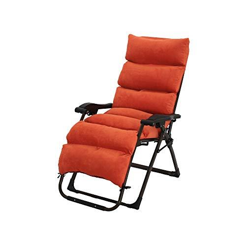 Bseack Chaises Longues, Peut s'asseoir, Peut s'allonger Chaise Longue Design Ergonomique Pliant de réglage pour Le Jardin de Balcon (Couleur : Orange)