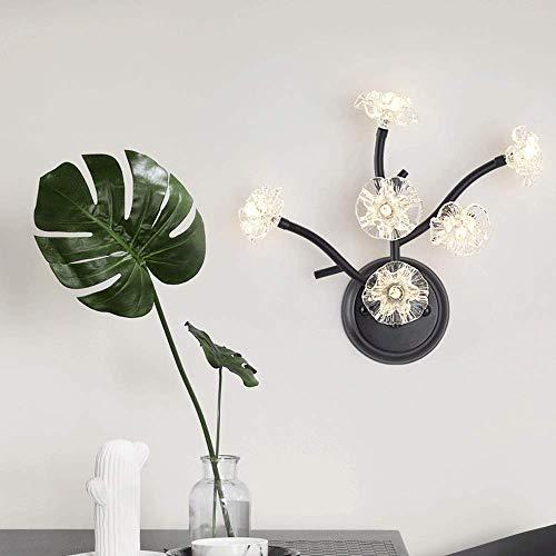 Xiao Fan * Europese woonkamer postmodern creatieve persoonlijkheid boomstammen glas bloem lichten gang slaapkamer decoratie wandlamp (maat: M)