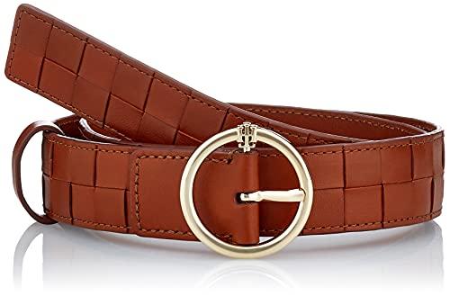 Tommy Hilfiger TH Woven 3.0 Cinturón, Coñac, 75 para Mujer