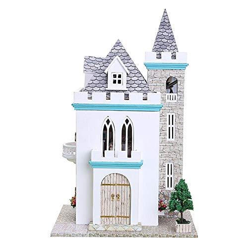 Moonlight Castle ドールハウス Hongxin 3D DIY 木製ミニチュアハウス 多層 暖かい ロマンチック プリンセス お城 One Size Hongxin