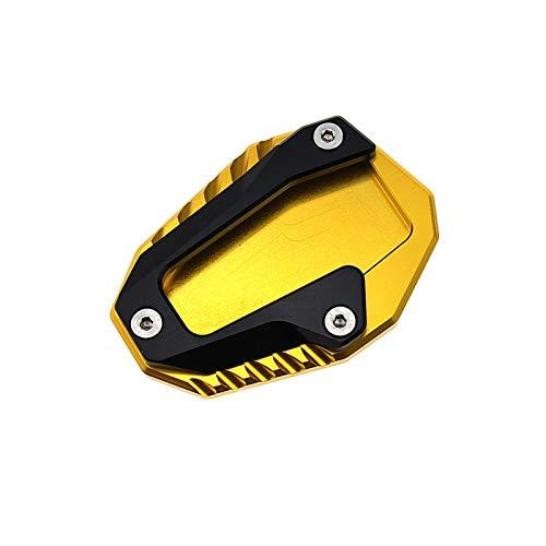 ZHUSHANG SHUANGX Ajuste para Moto CNC Pie Soporte Soporte Soporte Pad Plazo Placa Ampliar Ajuste para Ducati Monster 696 795 796 821 Hypermotardo 821 939 Supersport (Color : Gold)