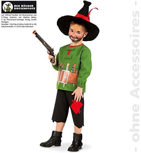 Hotzenplotz Kostüm Kinder Bandit Räuber Wilder Mann Kinderkostüm