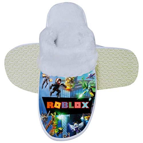 436 Ro-b-lox - Pantuflas unisex de espuma viscoelástica para el dormitorio, cómodas zapatillas para el hogar, para interiores y exteriores, 8.5-9.5 B (M) US Mujeres/7.5-8.5 D (M) EE. UU