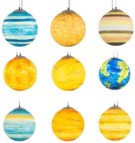 Hanglamp voor plafondlampen, zonnestelsel, planetair licht, aardelicht, Jupiter, decoratieve lampen, maan, kleuterschool, creatieve buitenkunst planetaire kroonluchter (kleur: Jupiter, maat XXL), klein