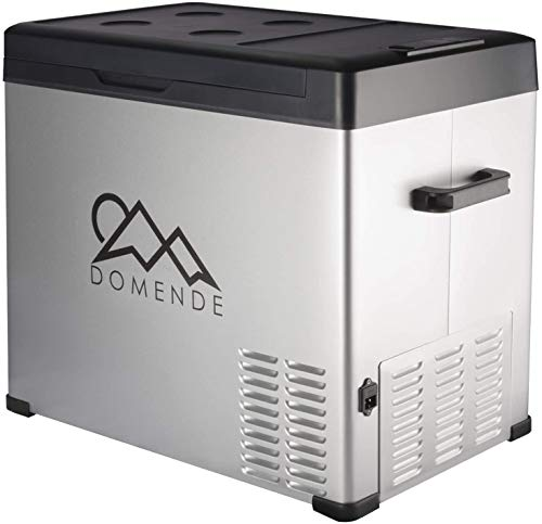 Domende 12 Volt Portable Refrigerator 54 Quart Car Fridge with Compressor (-4 ºF to 68 ºF), Vehicle, Car, Truck, RV, Boat, Electric Cooler Freezer for Driving, Camping, Travel, Fishing, 12/24V DC Outdoor