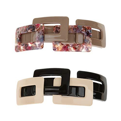 Perfeclan 2x Barette Clip Cheveux Femme Style Simple Pince à Ressort Accessoire Cheveux Femme