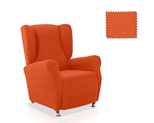 JM Textil Funda sillón orejero Minerva tamaño estandar en Color Naranja