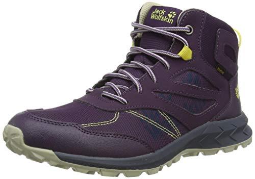 Jack Wolfskin Jungen Unisex Kinder Woodland Texapore MID K Outdoorschuhe, Purple/Yellow, 30 EU