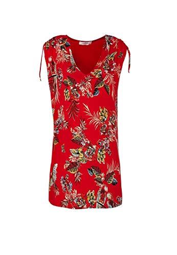 Promod T-Shirt mit Front-Print Rot Gemustert L