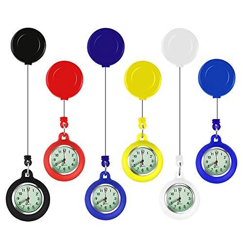 EKdirect 5 Stück Stretch Verstellbar Länge Taschenuhr Uhren Krankenschwesteruhr