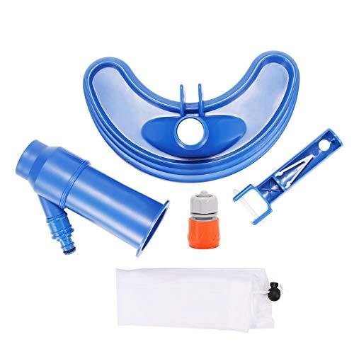 Miouldram Aspiradora mini Jet para piscinas, objetos flotantes, herramientas de limpieza, cabezal de succión para estanques