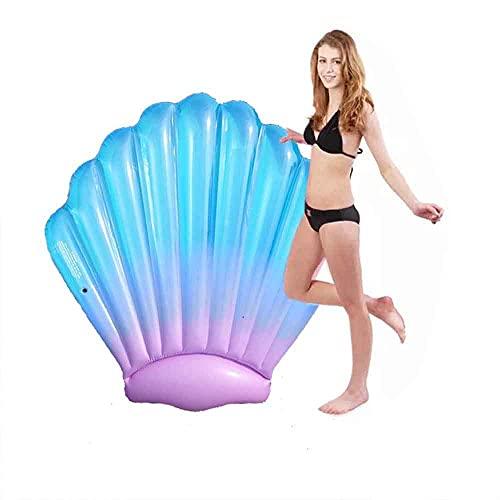 Tumbona de playa, Balsa flotante de la piscina inflable, coloreado gigante de color flotante flotable de la natación de la natación de la balsa de los tubos de la piscina para adultos anillo flotante