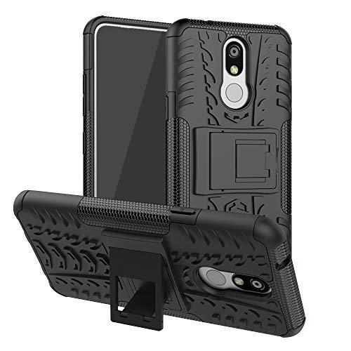 Capa para LG K40, LG K12 Plus/LG X4 (2019)/LMX420, capa protetora UZER à prova de choque híbrida fina camada dupla robusta de borracha híbrida dura/macia contra impactos com suporte para LG K40 2019