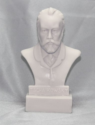 Tschaikowsky Statue 12,7 cm Büste Figur Statuette