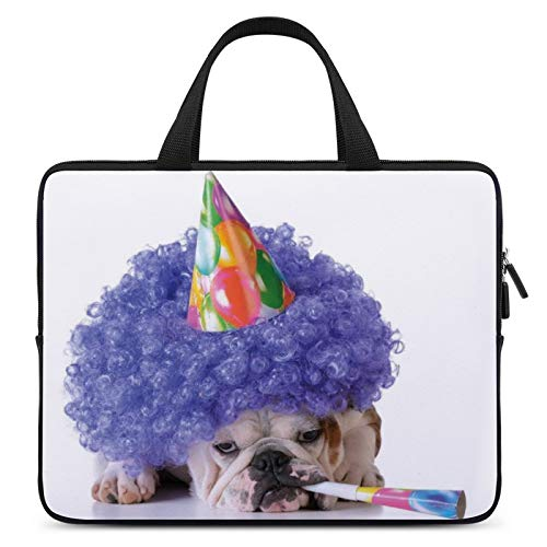 Universal Laptop Sleeve Bag,MacBook Carrying Bag,Notebook Computer Briefcase,10inch,for Apple/MacBook/HP/Acer/Asus/Dell/Lenovo/Samsung,Color for Birthday Decorations for Kids,Boxer Dog Animal with Pur