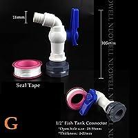"GUADANG 1ピース1/2""3/4""フィッシュタンクタップアダプタアセンブリ排水蛇口プラスチック雄ねじ水テープアクセサリー水族館水タップ継手 (Color : G(1l2in faucet), Diameter : Other)"