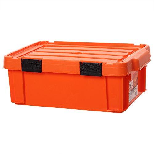 アイリスオーヤマ 職人の車載ラック専用 バックルコンテナ 密閉 オレンジ/ブラック MBR-13