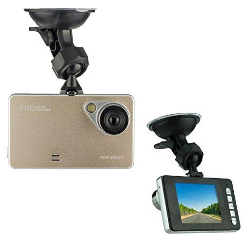 XIT Car Black Box Driving Video Recorder HD 1080P 170 Degree Ultra Wide Angle Lens G-Sensor Vehicle Camera Camcorder, Gold
