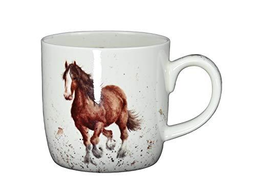 Royal Worcester Wrendale Designs Gigi Horse - Taza de porcelana (310 ml)