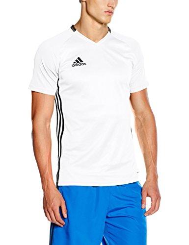 adidas CON16 TRG JSY Camiseta, Hombre, Blanco/Negro, M