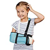 Arm Sling Support for Kids, Medical Grade Quality Child Arm Sling with Adjustable Strap for Broken Shoulder Elbow and Storage Space for Stabilise Arm, Shoulder Immobilizer, Injury Recovery