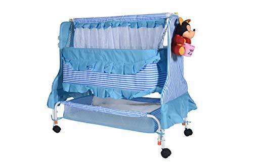 kayoksh New Born Baby Cradle jhula palna (555 Sky Blue)