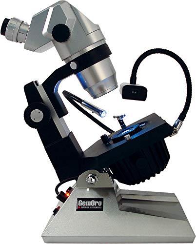 GemOro DSPRO 1067 LED 10X67X Zoom Precision Microscope, Silver