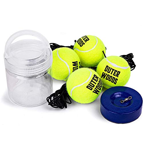Solo Tennis Trainer Rebound Ball  Tennis Rebounder with Portable Heavy Duty Base Elastic Strings and Extra Practice Tennis Balls  Training Tennis Equipment for Kids and Adults at Any Skill Level