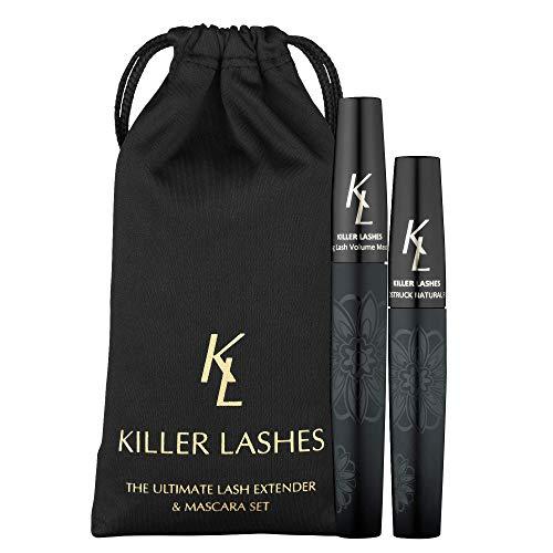 KL Killer Lashes Mascara Black and Ultimate Fibre Lash Extender for Fuller...