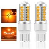 Teguangmei 7443 7443NA Lampadina LED per Auto Ambra 900LM Lampadina LED Super Luminosi 5730 33-SMD Utilizzata per Indicatori di Direzione Anteriori e Posteriori per Auto 12-30V 3.6W- 2Pcs