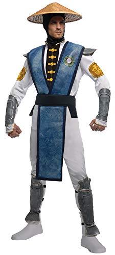 Rubies Costumes 216829 Mortal Kombat Raiden traje adulto Brown X-Large