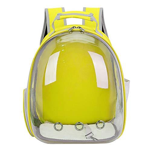 Minsa Space Capsule Box Pet Gatti Zaino Outdoor Travel Bag Cave per animali di piccola taglia 42 * 18 * 31 cm (giallo)