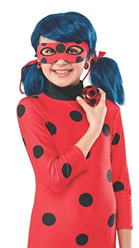 Rubie's Official Miraculous Ladybug Childs Clip-on Earrings and Yo-Yo Set, Fancy Dress Accessory Set