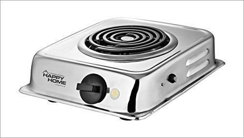 STARVIN G. Coil N-7 Steel Happy Home Hot Plate Electric Stove, Silver
