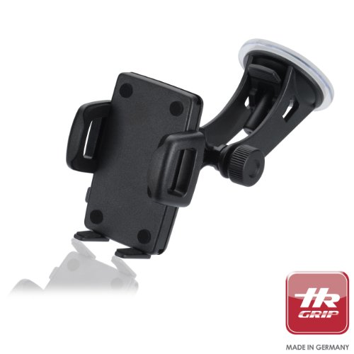 """HR Grip Traveler Classic Universal Suction Dashboard and Windsheild Car Mount Holder for iPhone 5S/5C/5/4S/4, Samsung Galaxy S5/S4/S3, most 5"""" Smartphones and MP3 Players"""