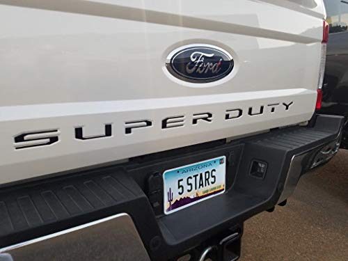 EyeCatcher Tailgate Insert Letters fits 2017-2019 Ford Super Duty (Gloss Black)