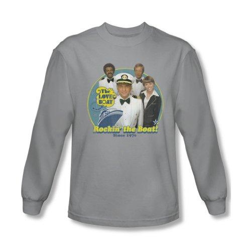 Love Boat - Rockin La chemise à manches longues en bateau des hommes dans Argent, Small, Silver